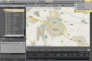 Маршрут трактора оснащенного GPS мониторингом
