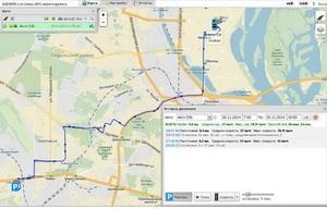 Работа GPS маячка в WEB-сервисе